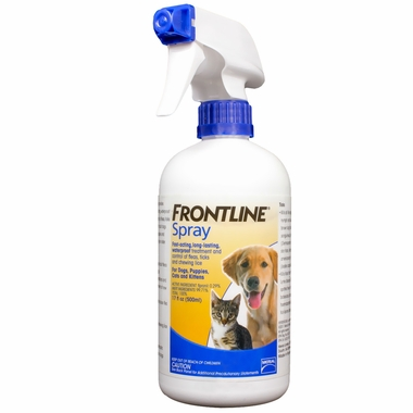 Picture Frontline spray kills fleas